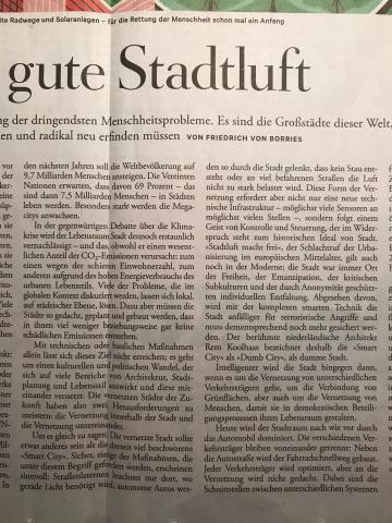 Die gute Stadtluft, DIE ZEIT No.1 vom 27.12.19, Auszug